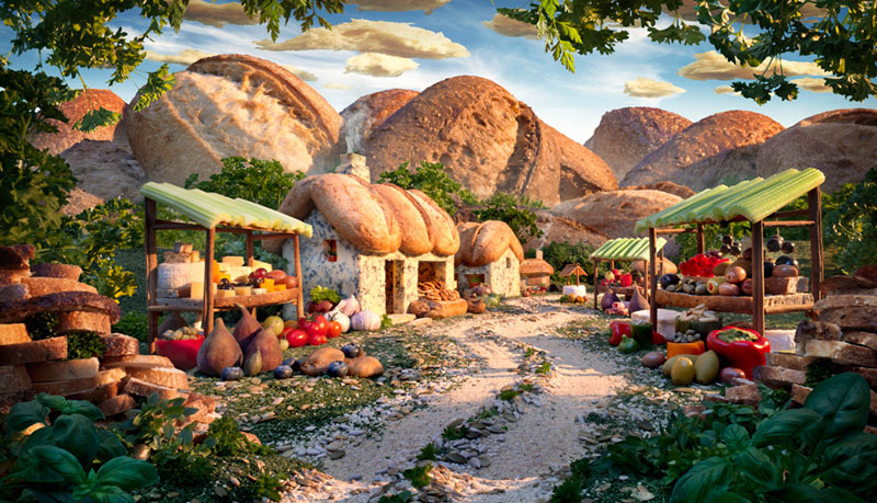 Fantasy Landscapes Entirely Made From Food - 15 fantasy landscapes entirely made from food