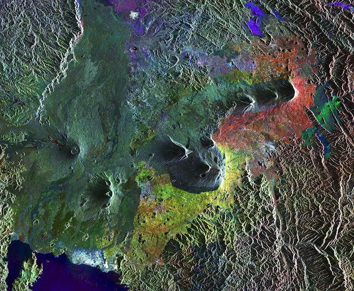 Virunga Mountains, compilation of images
