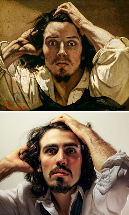 Photographer Brilliantly Recreates Renaissance Paintings With Auto - Mechanics hilariously recreate renaissance paintings