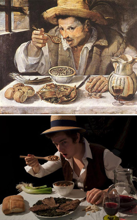 """The Beaneater"", Annibale Carracci - remake by Mark Bass"