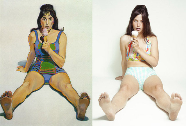 """Girl with Ice Cream Cone"", Wayne Thiebaud - remake by Stephanie Gonot"