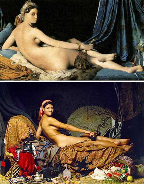 """Grande Odalisque"", Jean Auguste Dominique Ingres - remake by Patrick Richmond Nicholas"