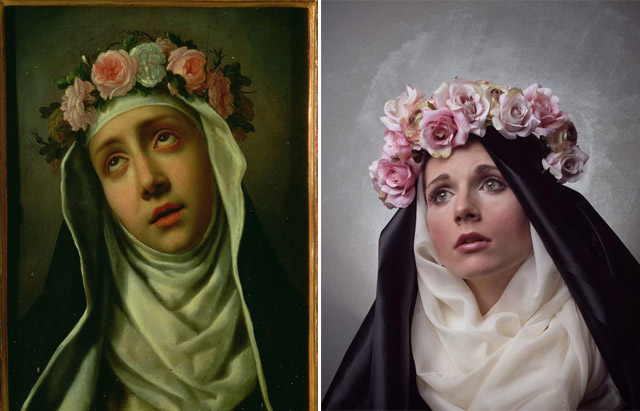 """St Rose of Lima"", Carlo Dolci - remake by Genevieve Blais"
