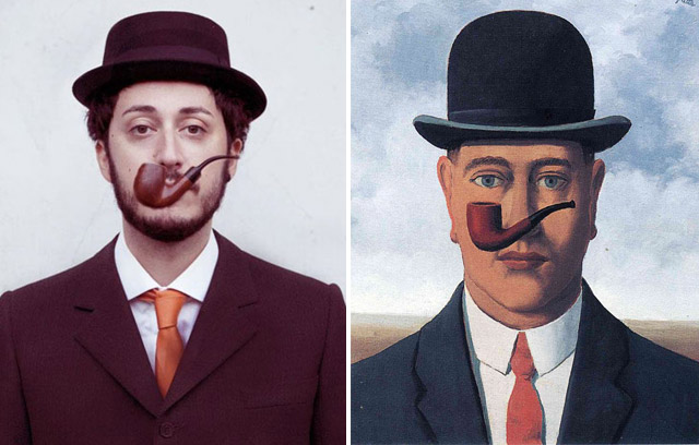 """La bonne foi"", Magritte - remake by Noemi Mazzucchelli"
