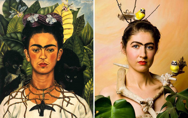 """Self Portrait"", Frida Kahlo - remake by Kevin Thom"
