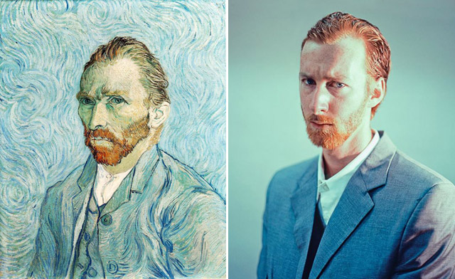 """Self Portrait 1889″, Vincent van Gogh - remake by Seth Johnson"