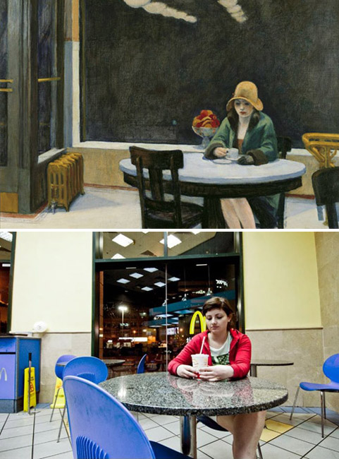 """Automata"", Edward Hopper - remake by Or Eitan"