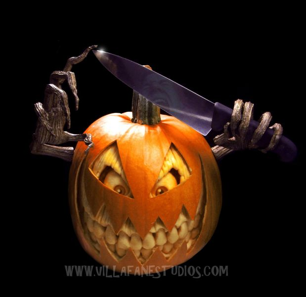 Mindblowing Pumpkin Carvings By Ray Villafane - Mind blowing pumpkin carvings by ray villafane 2