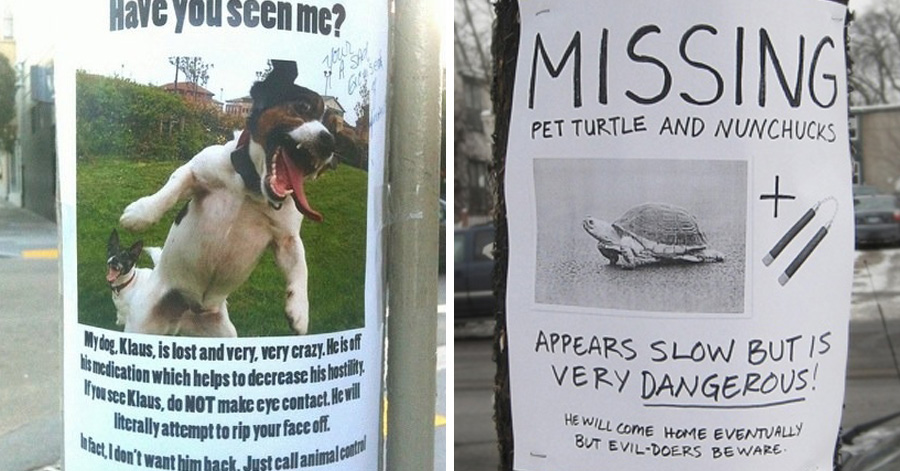 30 hilarious street posters you certainly havent seen around – Funny Missing Person Poster