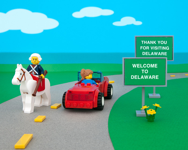 Amazing LEGO Creations Representing Each One Of The States - 16 imaginative lego ads that celebrate the power of fantasy 2