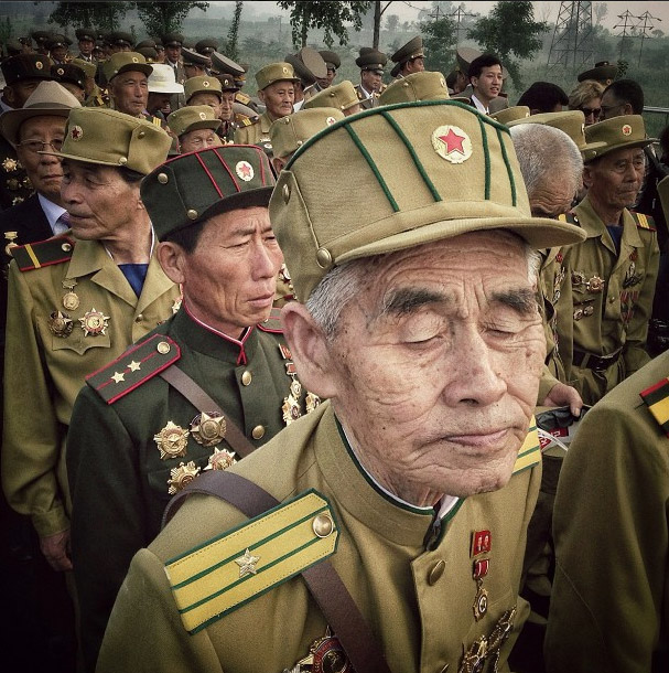 Korean War veterans. Photo credits: David Guttenfelder