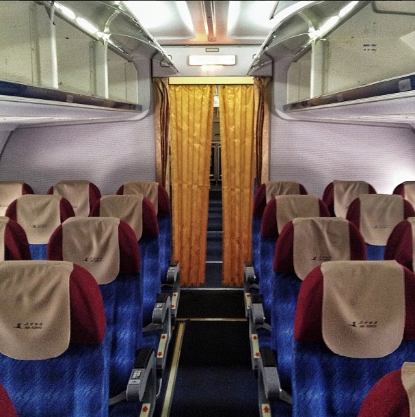 On board of an Air Koryo flight to Beijing. Photo credits: David Guttenfelder