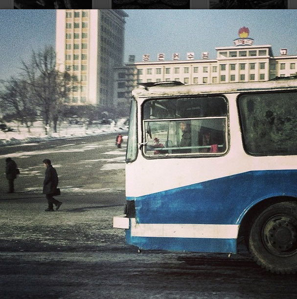 City bus in Pyongyang. Photo credits: David Guttenfelder