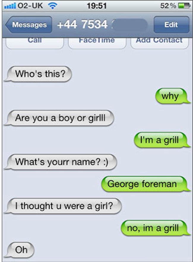 Funny random things to text a girl