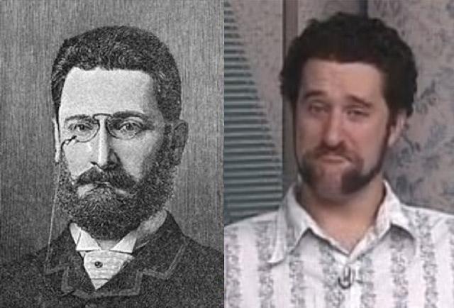 via lovelyish.com http://www.badtvblog.com/2011/11/historical-celebrity-doppelgangers.html