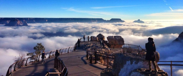 Rare Weather Event Fills Grand Canyon With Fog And Gives Us This - Rare weather event fills grand canyon with fog and gives us this breathtaking sight