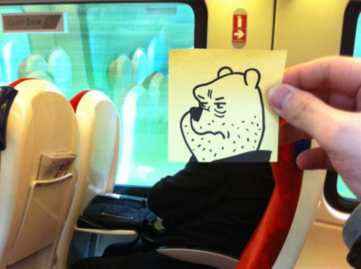 This Illustrator Found A Funny Way To Kill Boredom On A Train And - This illustrator found a funny way to kill boredom on a train and you should try it too