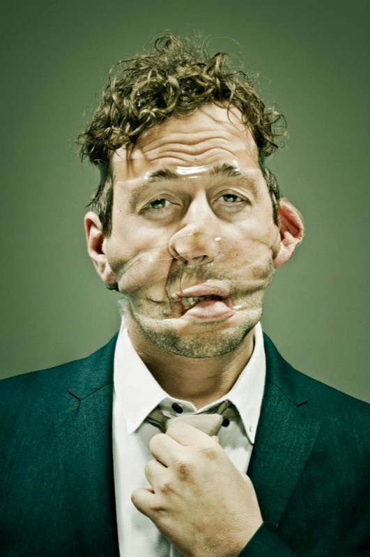 15 Hilarious Scotch Tape Faces Portraits By Photographer