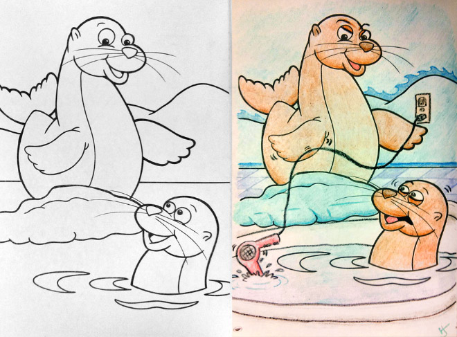 Hilarious Coloring Books For Children Seen From Adults' Corrupted  Perspective