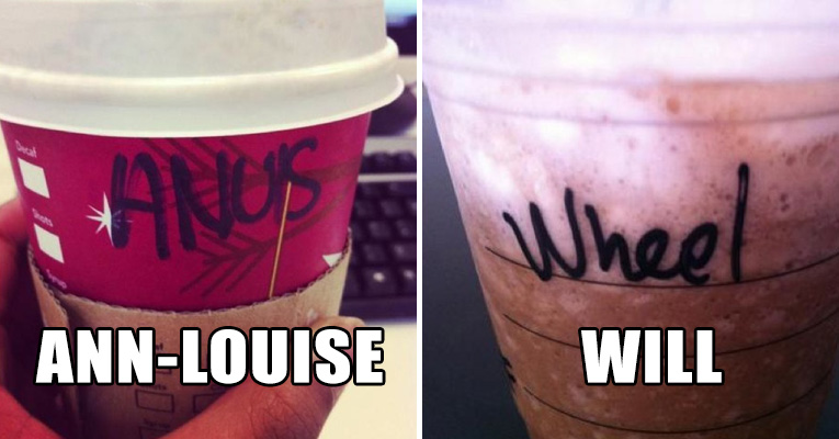 The Funniest Misspelled Names On Starbucks Coffee Cups The - 18 hilarious brand new animal names that are so much better than the originals