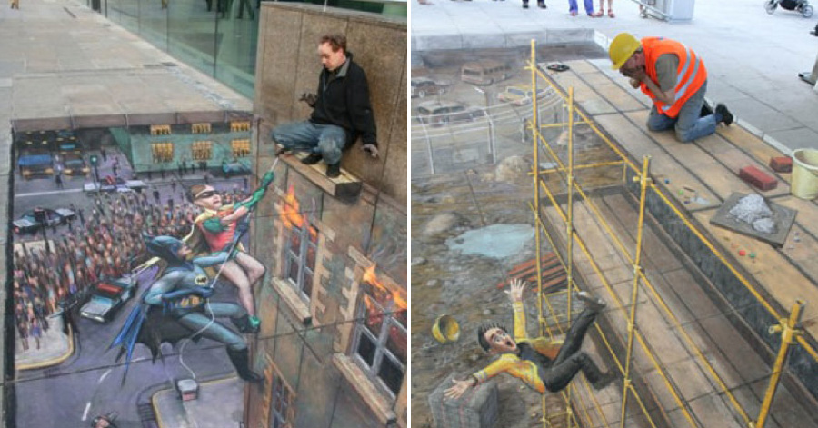 36 unbelievable 3D pavement drawings that will make you look twice