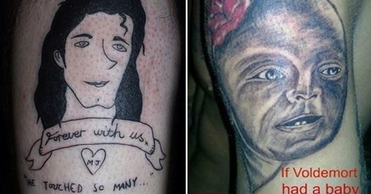 bfcf4263b32a The 32 most hilarious portrait tattoo fails ever. #16 made my spine  tingle…LOL!