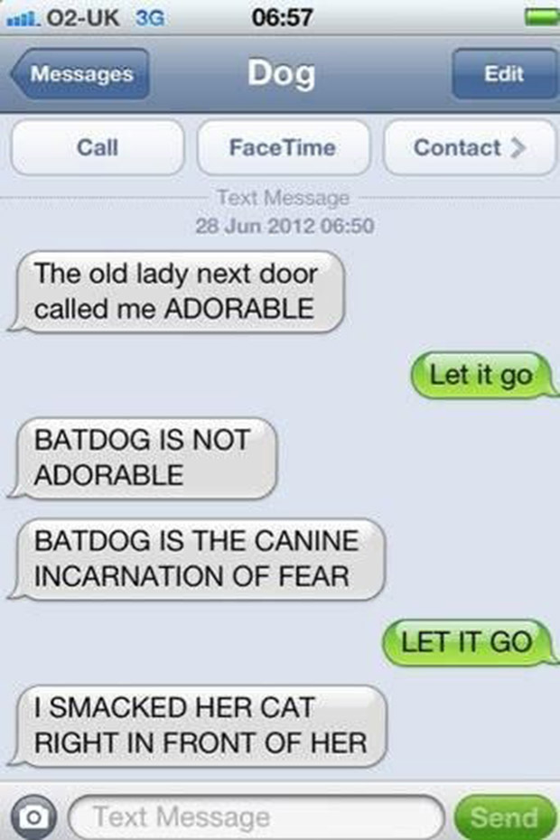 The Funniest Text Messages Dogs Would Send If They Could Text - 21 hilarious text replacement pranks that will make you laugh way more than you should