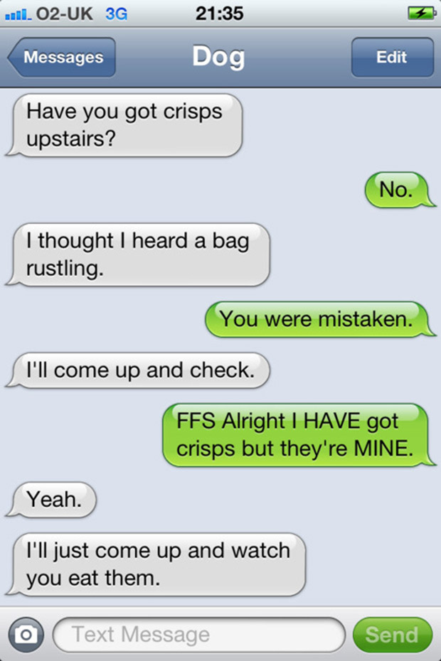 Hilarious text messages to send to a guy