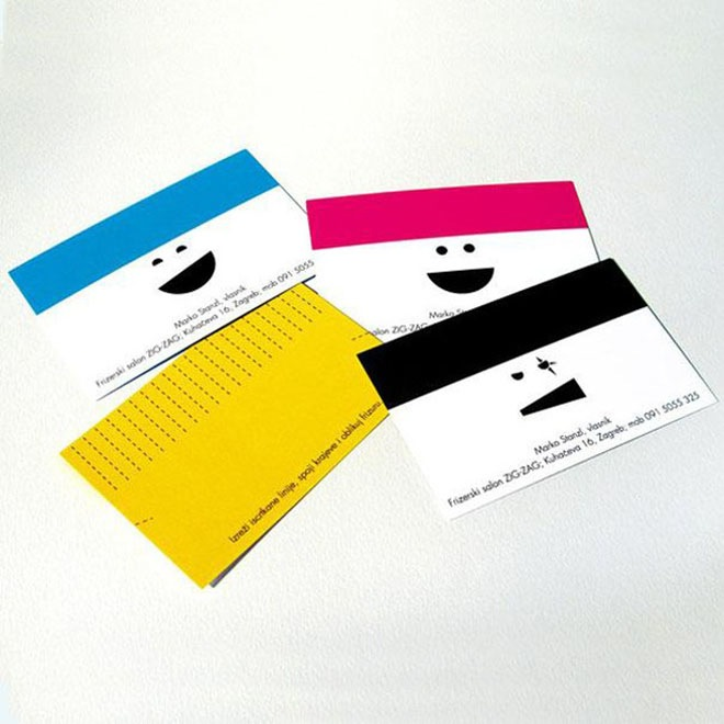 The 30 most brilliant business cards ever made 11 is simply genius creative hair dressers business card reheart Image collections
