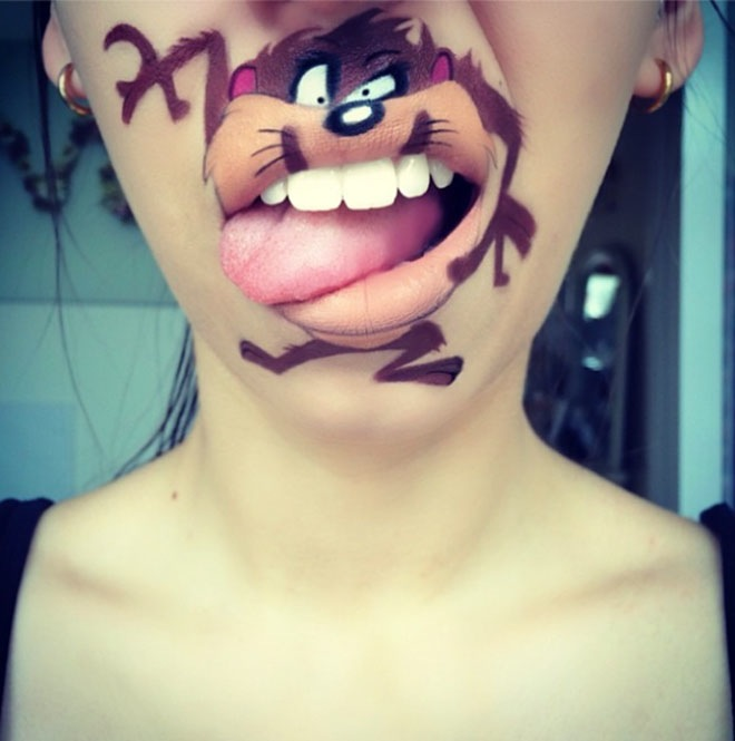 Artist Recreates Funny Characters With Mouth Painting