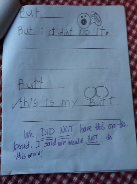 Funny kid homework answers