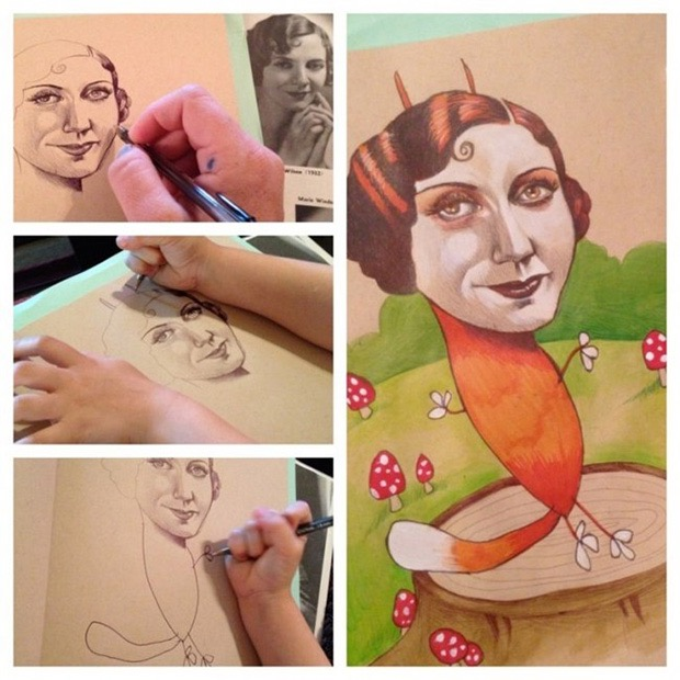 mom-lets-daughter-complete-her-drawings-3