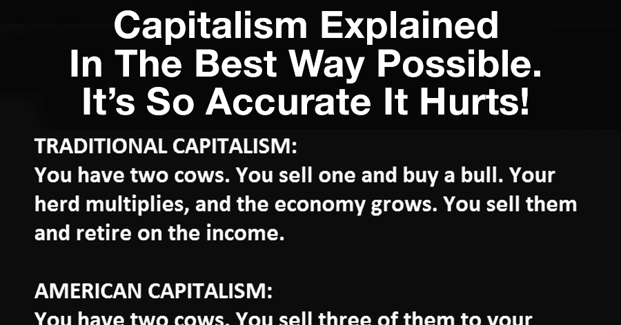 capitalism explained in the best way possible it s so accurate it  capitalism explained in the best way possible it s so accurate it hurts lol