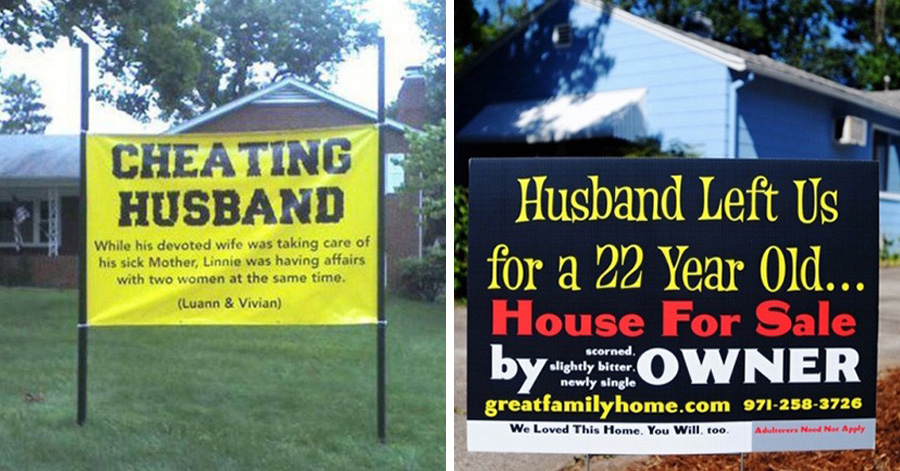 Karma for cheating husbands