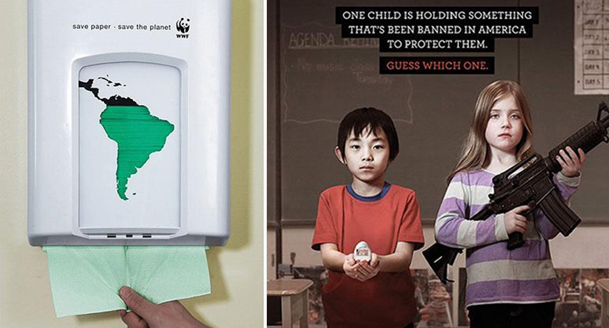 33 shocking ads that will make you think about the issues of