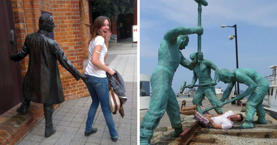 funny-photos-with-statues