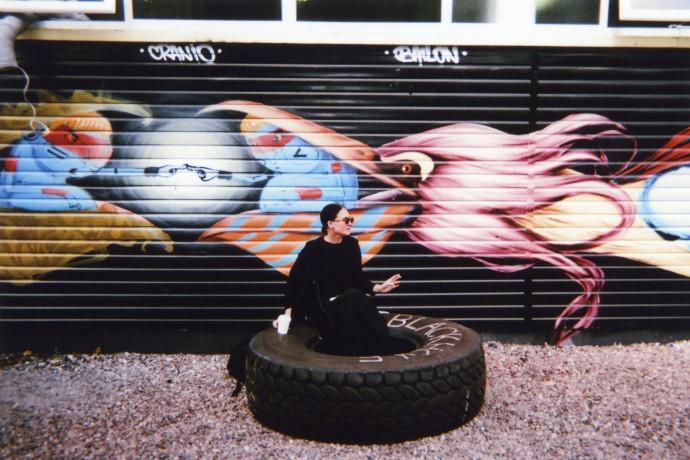 January: Tyre Break, Hackney, by Desmond Henry
