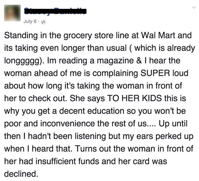 She Heard A Rude Woman Ridiculing A Mom With No Money. What She Did Next Is Priceless. WOW.