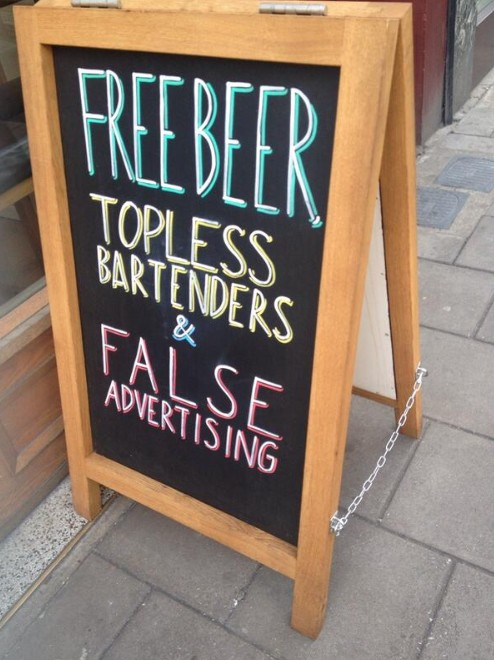 22 Hilarious Bar Signs That Will Definitely Get You In 6