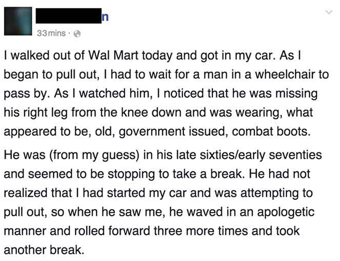 This Woman Met A Helpless Man At Walmart, And Did The Best Thing EVER For Him. This Is Gold.