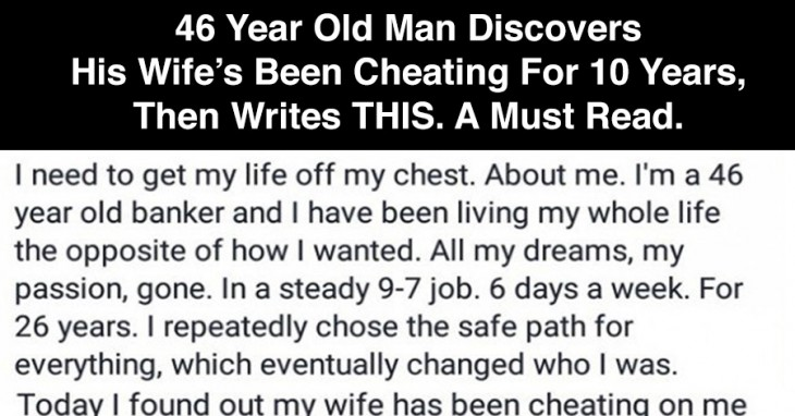 a creative story about a cheating husband