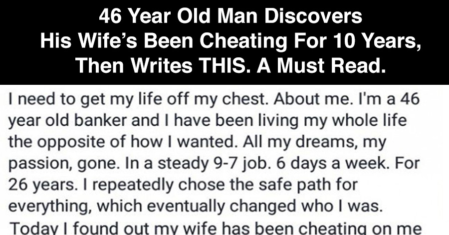 Why Does A Husband Cheat On His Wife