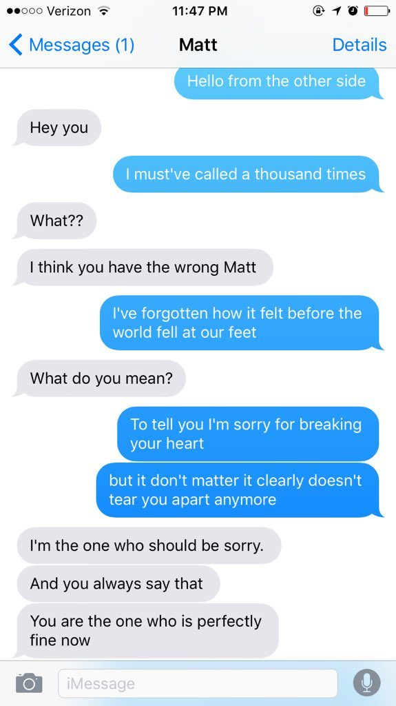 Woman Texts Her Ex Using Only Adele's Hello Lyrics, And The Result Is Totally Hilarious!