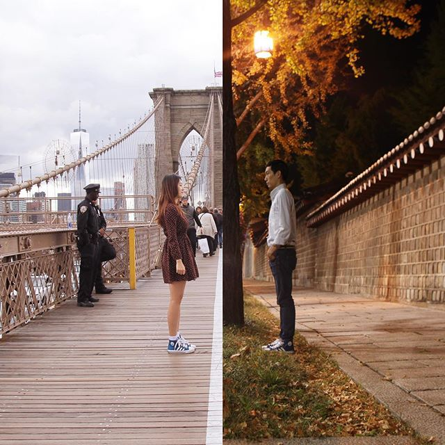 Couple In Long Distance Relationship Creates Combo Photos To Connect