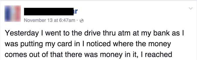 He Found $500 In His Bank's ATM Machine. But The Bank Was In Shock When He Did This. Just WOW.