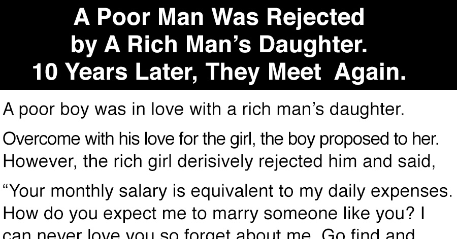 Poor girl dating rich man