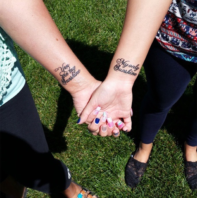 20 Adorable Mother Daughter Tattoos Pt 2: 20 Creative Mother-Daughter Tattoos Showing Their Love Is