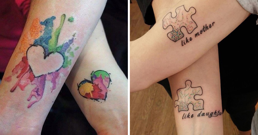 50 Truly Touching Mother Daughter Tattoo Designs  Zariascom