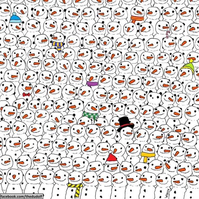 90% Of People Can't Find The Panda Hidden In This Puzzle In 30 Seconds. Are You In The 10%?