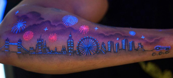 Creative BlackLight Tattoos You Can See Only Under UV Light - 30 creative black light tattoos you can see only under uv light 8 is what i call amazing